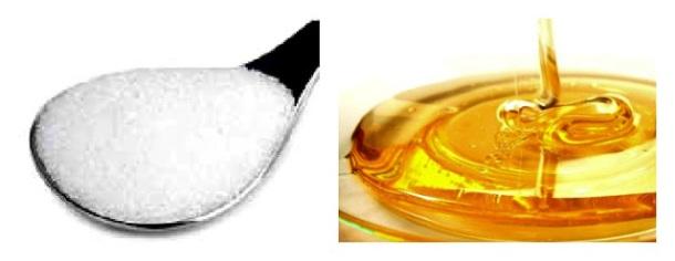 açúcar e mel